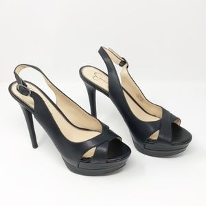 Jessica Simpson Willey Slingback Heels Black 8.5